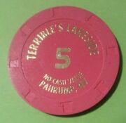 Terribles Lakeside Casino Pahrump, Nevada 5.00 Chip Great For Any Collection