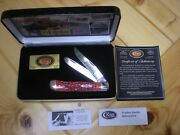 Case Xx Vietnam Limited Edition Red Bone Trapper Pocket Knife 1744 Of 5000