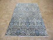 6 X 9and0393 Hand Knotted Chocolate Brown Ikat Peshawar Oriental Rug G5213