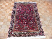 4and0391 X 6and0394 Hand Knotted Red Antique Fine Sarouk Oriental Rug G1990