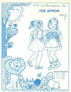 G. G.and039s Of Birmingham Sewing Smocking Pattern Girland039s The Apron T-2 T-3 4-5 Uncut