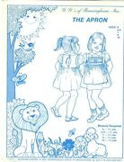 G. G.and039s Of Birmingham Sewing Smocking Pattern Girland039s The Apron Sz 6-6x-7-8-10 Uc