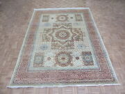 8and03910 X 11and0399 Hand Knotted Egyptian Geometric Ivory Mamluk Fine Oriental Rug G6945