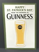 Guinness Blonde Happy St. Patrick's Day Tin Sign Embossed New And F/s 20 X 14