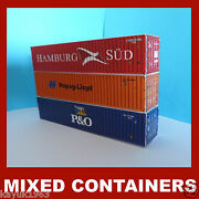 Hamburg-sud Hapag Pando Shipping Containers Model Card Kits 40ft X 3 Oo Scale