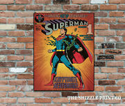 Comic Cover The Amazing New Adventures Of Superman Retro Vintage Metal Wall Sign
