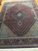 8and0392 X 11and0396 Sino Chinese Fish Design Oriental Rug - Hand Made - Wool And Silk