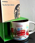 New Starbucks Limited Edition London England Ceramic Mug Cup You Are Here