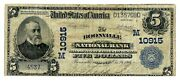 Boonville, Missouri Mo 5 Large, Blue Seal 1902 National Bank Note, Ch 10915