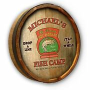 Vintage Style Wood Sign Personalized Fish Camp 19
