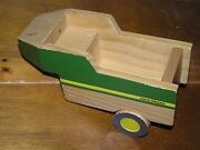 Used Learning Curved Green Yellow Painted John Deere Wood Tractor Trailer Andndash