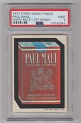 1973 Topps Wacky Packages 1st Series Rare  Paul Maul Psa 9