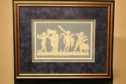 Delicate Wedgwood Jasperware Marriage Of Cupid And Psyche Framed Plaque C.1790