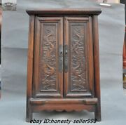 21 Old Chinese Huanghuali Wood Hand-carved Dragon Furniture Desk Cabinet Table