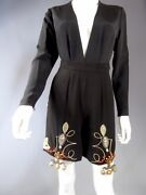 Christian Dior Haute Couture Embroidered Bodysuit Shorts Set