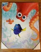 Disney Pixar Finding Dory Nemo Framed Wall Canvas Picture New 20 X 16