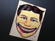Vintage Coney Island Steeplechase Park Funny Face Decal / Rare Mint / 9 X 11