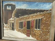 New Mexico Painting Church Bell, Building A Southwestern Cityscape