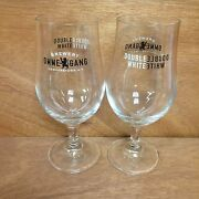 Ommegang Brewery Double White Glass Set Of 2 Glasses New Cooperstown Ny