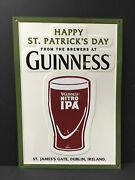 Guinness Nitro Ipa Happy St. Patrick's Day Tin Sign Embossed New And Fs 20 X 14