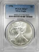 1996 Silver Eagle Doubled Die Obverse Pcgs Ms67 Coin Ah378