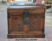 20chinese Huanghuali Wood Hand-carved Storage Jewelry Box Treasure Chest Statue