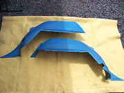 1968 Dodge Coronet Station Wagon Blue Interior Fender Well Covers 2657872 / 3