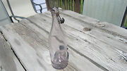 Antique Purple Bottle With Rubber Stopper Vintage Amethyst Wine Holy Water