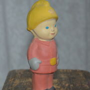 1950s Vintage Soviet Russian Doll Toy Figurine Firefighter Rubber Old Fireman