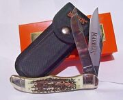 Marbles Pocket Knife Folding Hunter With Stag Handles And Sheath Free Shipping