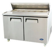 Atosa Usa Msf8303 Stainless Steel Sandwich Prep Table 60 2-door Refrigerator