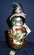 Polonaise Glass Ornament Betty Boop Toy Bag, Ap1253, New In Box