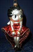 Polonaise Glass Ornament Betty Boop- Red And Gold Dress, Gp624, New In Box