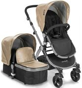 New Baby Roues Letour Lux Ii Tan Lightweight Compact Stroller W/ Bassinet