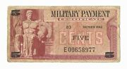 Series 692 Mpc 5¢ Replacement U.s. Military Payment Certificate
