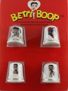Betty Boop Porcelain Thimbles Set Of Four 4 Licensed Character