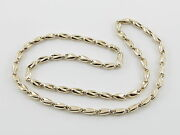 14k Yellow Gold Menand039s Bullet Link Style Chain Necklace 25 3/4 25.7 Grams