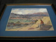 Old New Mexico Taos Landscape Painting