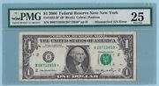 1.00 Federal Reserve Star Note - 2006 - Fr1932b - Pmg Error Note