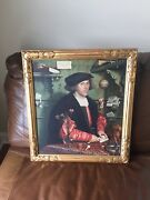 Amazing Gothic Gilt Foster Bros Newcomb Macklin Frame With Print