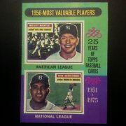 1975 Topps Mickey Mantle And Don Newcombe 194 Super Sharp Mint Card See Photos