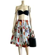 Tom Ford Collection 1 Baby Blue Silk Gazar Roman Holiday Skirt Chic
