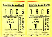 2 1970and039s Chicago Bulls Playoff Ticket Stubs