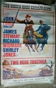 Two Rode Together 1961 John Ford Stewart Widmark Jones Western Drive In Poster G