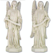 New Catholic Church Standing Banner Angels Set Of 2 -free Shipping