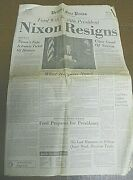 Nixon Resigns-detroit Free Press Newspaper-august 9, 1974-entire Section A