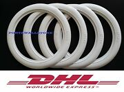 14 Rim New Tire White Cap Whitewall Topper Tire Trims Port A Wall For 4 Tires.