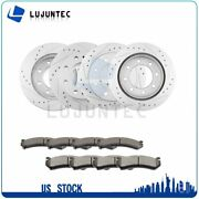 Front Rear Ceramic Pads And Rotors Brake For 2003 Chevrolet Avalanche 2500 Gmc