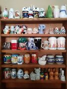 Mixed Lot Of 70 Ceramic Vintage Salt And Pepper Shakers