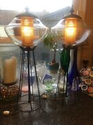 Vintage Globe Lamps With Gas Lantern Look Unique And Beautiful.